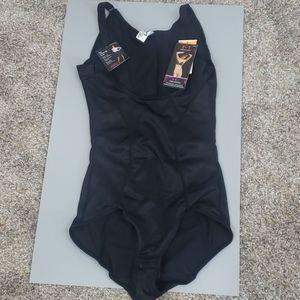 Maidenform firm control black bodysuit, NWT